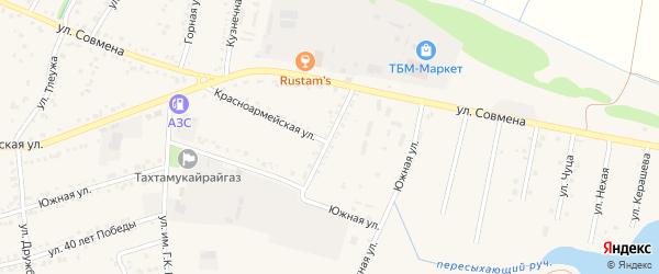Улица Генерала Карпелюка на карте аула Тахтамукая Адыгеи с номерами домов