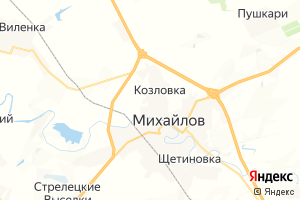 Карта г. Михайлов Рязанская область