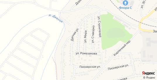 Улица Новоселов в Семилуках с номерами домов на карте. Спутник и схема онлайн
