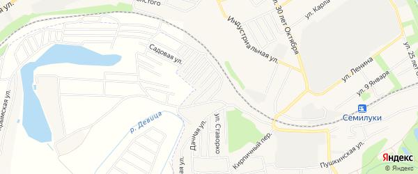 Карта поселка Сдт Ландыш (с Девица) в Воронежской области с улицами и номерами домов