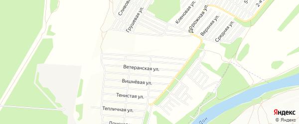 Карта поселка СНТ Фруктовый сад в Воронежской области с улицами и номерами домов