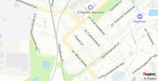 Новая улица в Егорьевске с номерами домов на карте. Спутник и схема онлайн