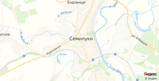 Карта Семилук с улицами и домами подробная. Показать со спутника номера домов онлайн