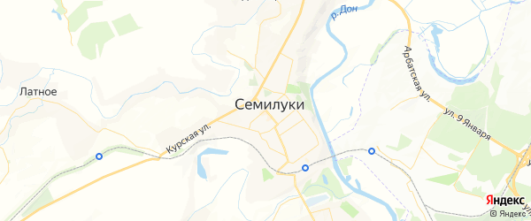 Карта Семилук с районами, улицами и номерами домов: Семилуки на карте России