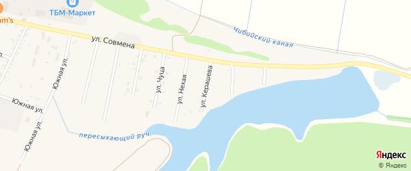 Улица Т.Керашева на карте аула Тахтамукая Адыгеи с номерами домов