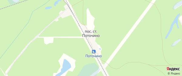 Карта поселка Станции Поточино города Орехово-Зуево в Московской области с улицами и номерами домов