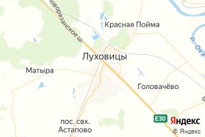 Карта г. Луховицы Московская область