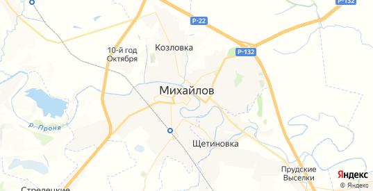 Карта Михайлова с улицами и домами подробная. Показать со спутника номера домов онлайн