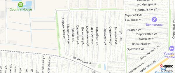 Клубничная улица на карте Дружбы с номерами домов