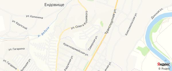 Карта поселка СНТ Медика в Воронежской области с улицами и номерами домов