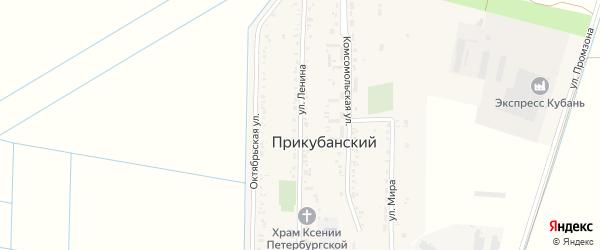 Улица В.И.Ленина на карте Прикубанского поселка Адыгеи с номерами домов