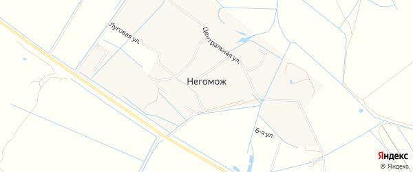 Карта деревни Негомож города Коломны в Московской области с улицами и номерами домов