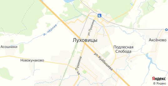 Карта Луховиц с улицами и домами подробная. Показать со спутника номера домов онлайн