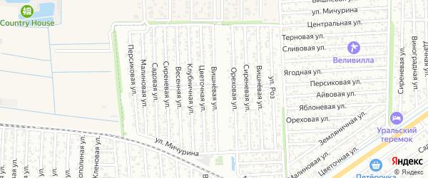 Вишневая улица на карте Дружбы с номерами домов