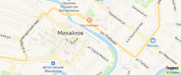 Улица Красной Армии на карте Михайлова с номерами домов