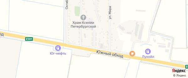 Улица Космонавтов на карте Прикубанского поселка Адыгеи с номерами домов