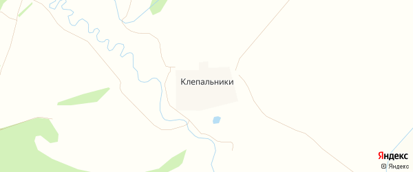 Карта деревни Клепальников города Зарайска в Московской области с улицами и номерами домов