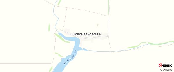 Карта Новоивановского хутора в Ростовской области с улицами и номерами домов