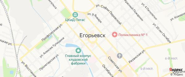 Карта села Спасс-Леоновщина города Егорьевска в Московской области с улицами и номерами домов
