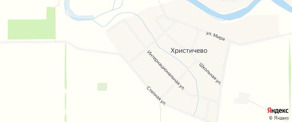 Карта хутора Христичево в Ростовской области с улицами и номерами домов