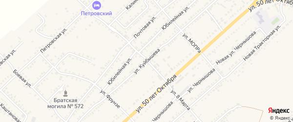 Улица Куйбышева на карте Острогожска с номерами домов