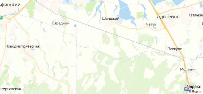 Красноармейский на карте