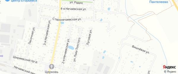 Луговая улица на карте Егорьевска с номерами домов