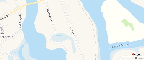 Светлая улица на карте Ленинского хутора Краснодарского края с номерами домов