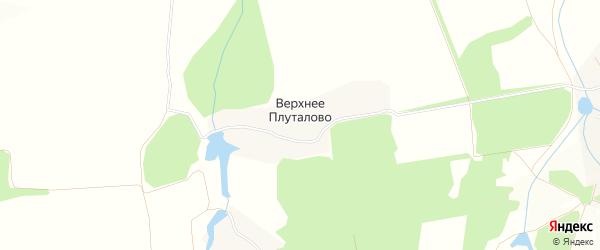 Карта деревни Верхнего Плуталово города Зарайска в Московской области с улицами и номерами домов