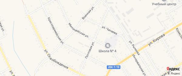 Милицейская улица на карте Острогожска с номерами домов