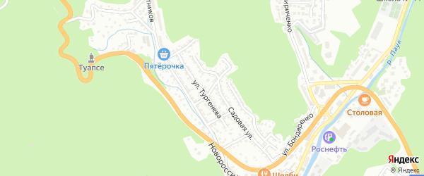 Улица Крылова на карте Туапсе с номерами домов
