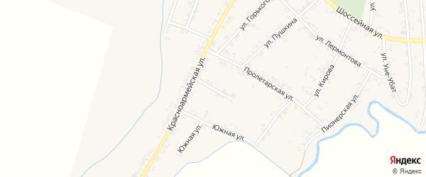 Улица Жданова на карте Шенджий аула Адыгеи с номерами домов