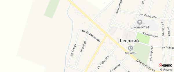 Новая улица на карте Шенджий аула Адыгеи с номерами домов