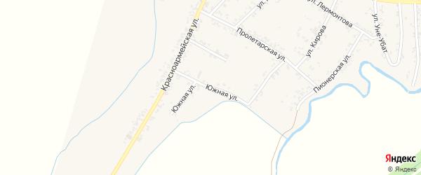 Улица Клары Цеткина на карте Шенджий аула Адыгеи с номерами домов