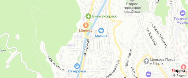 Таманская улица на карте Туапсе с номерами домов