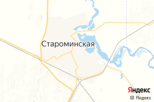 Карта ст. Староминская Краснодарский край