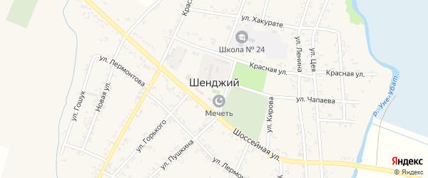 Дорога А/Д Шенджий-Старомогилевский на карте Шенджий аула с номерами домов