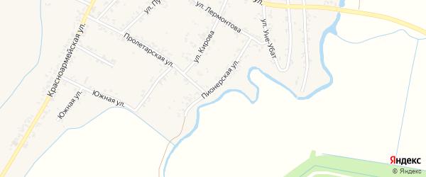 Пионерская улица на карте Шенджий аула Адыгеи с номерами домов
