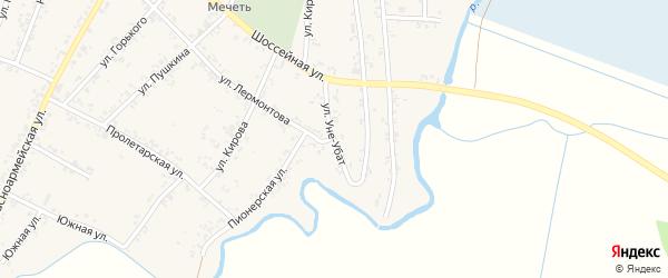 Улица Уне-Убат на карте Шенджий аула Адыгеи с номерами домов