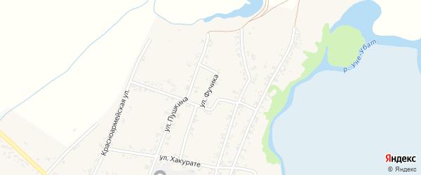 Улица Фучика на карте Шенджий аула Адыгеи с номерами домов