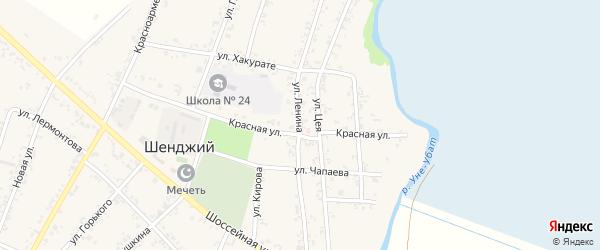 Улица Ленина на карте Шенджий аула Адыгеи с номерами домов