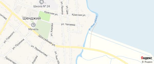 Восточная улица на карте Шенджий аула Адыгеи с номерами домов