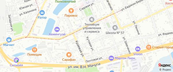 Кутовая улица на карте Краснодара с номерами домов