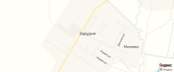 Карта деревни Зарудни города Коломны в Московской области с улицами и номерами домов