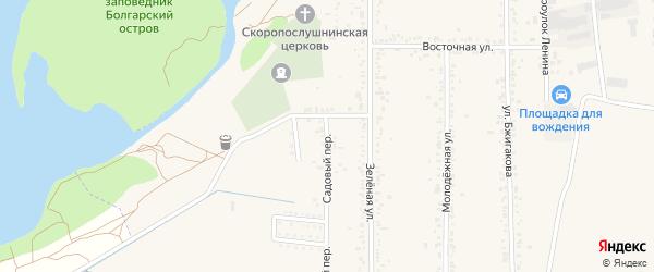 Садовый переулок на карте поселка Тлюстенхабля Адыгеи с номерами домов