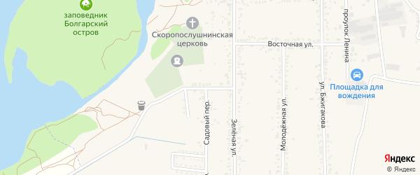 Улица Коммунаров на карте поселка Тлюстенхабля Адыгеи с номерами домов