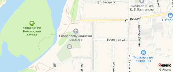 Переулок Коммунаров на карте поселка Тлюстенхабля Адыгеи с номерами домов