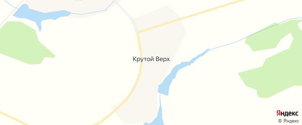 Карта деревни Крутого Верх города Зарайска в Московской области с улицами и номерами домов