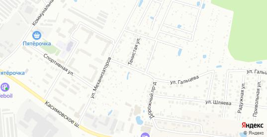 Дорожный проезд в Егорьевске с номерами домов на карте. Спутник и схема онлайн