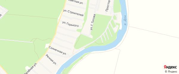 Территория А1(ул.Транспортная) на карте Семилук с номерами домов